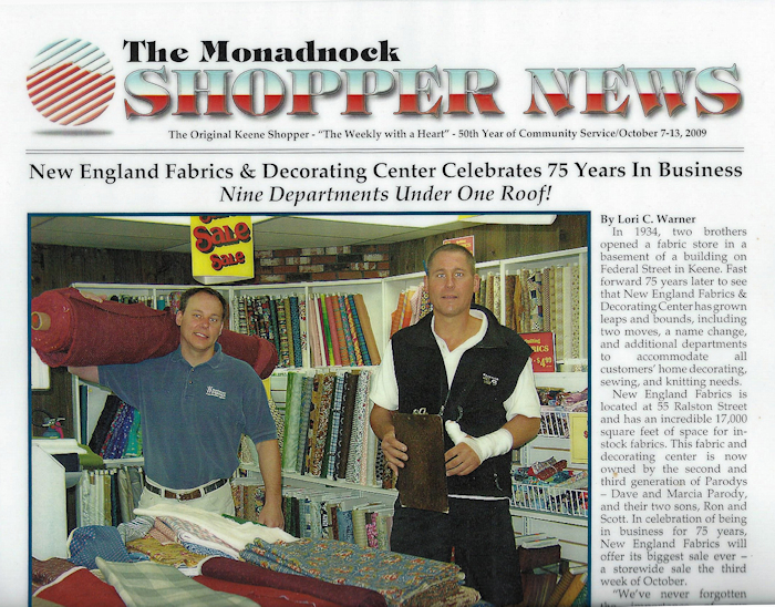 about New England Fabrics - 84 years