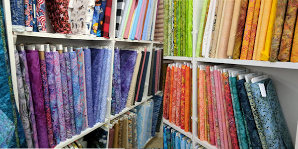 Fabrics - We have fabrics from all over the world in our huge showroom